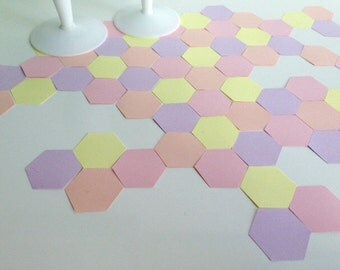 Wedding Party table confetti, geometric pastel shades