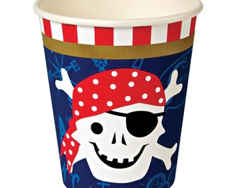 Pirate Party | Party Cups | Pirate Theme Party | Pirate Cups | Paper Cups | Pirate Decor | 12 Cups per Pack | Pirates