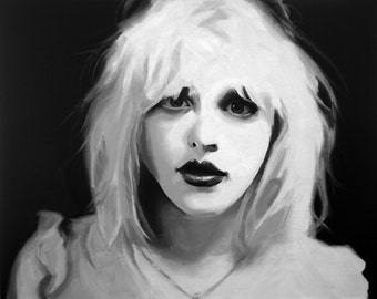 Courtney Love Fine Art Print (Hole - Grunge - Punk- Celebrity Skin - Live Through This - Music Portraits - Icons)