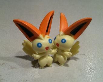 Victini Pokemon earrings