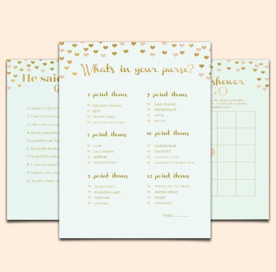 templates for bridal shower games - mint bridal shower game template printable bridal shower game