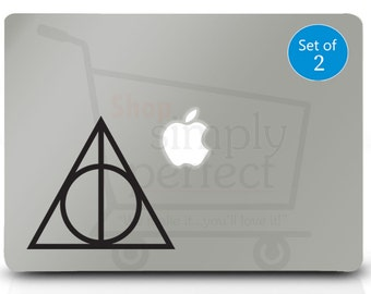 Deathly Hallows Decal, Harry Potter Inspired Deathly Hallow Decal - Set of 2 Decals