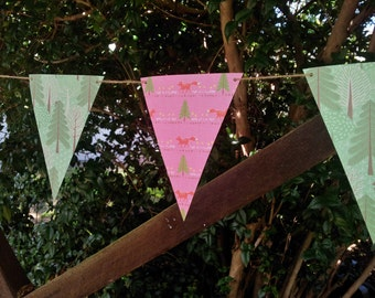 THE WANDERER Paper Bunting - Nursery, Party, Baby Shower, Children's Room decoration