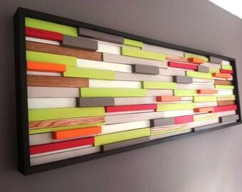Wood wall art - abstract wood art sculpture
