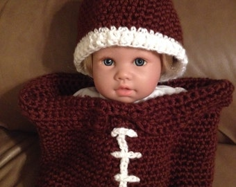 Baby football cocoon crochet