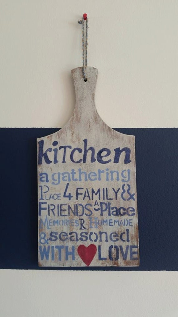 Kitchen Decor Vintage Cutting Board Shabby Chic Home