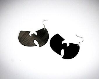 wu tang vinyl record earrings