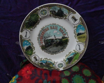 Strasburg Railroad America's Oldest Short Line Railroad collector/souvenir plate/Cherry Hill Station/long curve/cannonball express/depot/