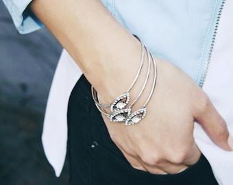 Evil Eye Cuff Bracelet- evil eye bracelet/ boho bracelet/ festival bracelet/ stacking bracelets/ stackable bracelet/ gifts for her/ birthday
