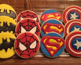 Superhero Sugar Cookies