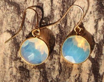 Opal stone earrings