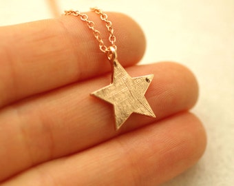 Star Necklace Gold , Simple Dainty Necklace, Graduation Gift, Gold Star Jewelry