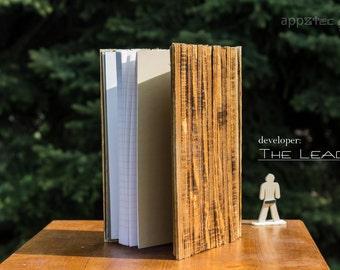 A5 Wood Appztec Exercise Book - Diary Vintage Wood Diary -