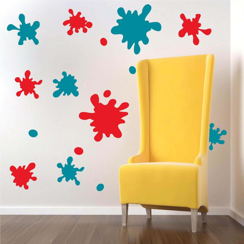 Ink Splash Decals, Ink Splash Wall Murals, Kids Bedroom Ink Adhesive ...