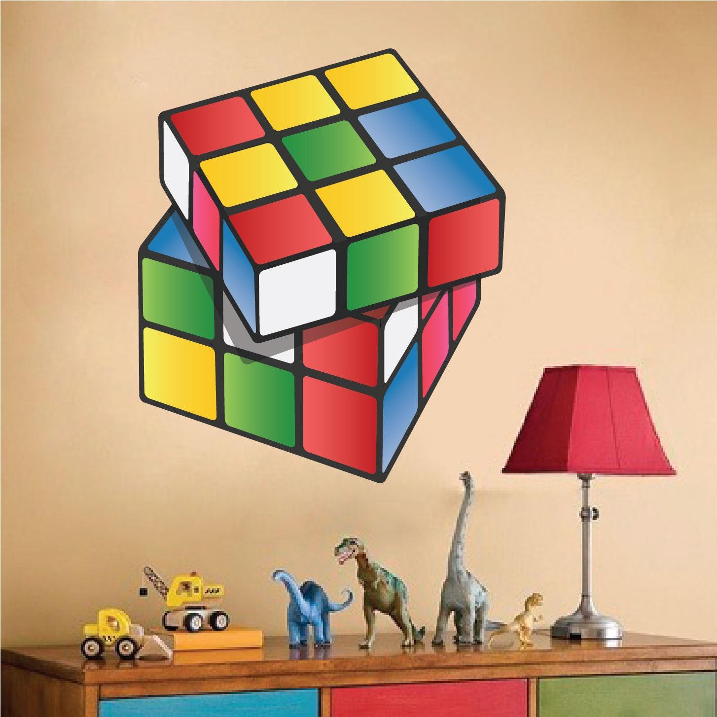 Rubik 39 s cube decals rubik 39 s cube wall art design by primedecal - Cube wall decor ...