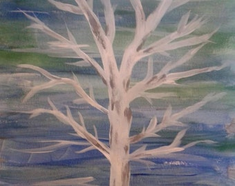 White Tree - Limited Edition Print of Original Painting
