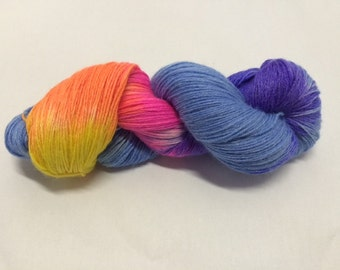 Hand Dyed Sock Yarn - Calm the Winter Blues
