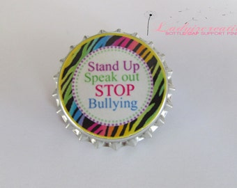 Anti Bullying Bottle Cap Pins