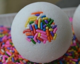Set of 2 -Cream Cheese Frosting with Sprinkles Bath Bomb