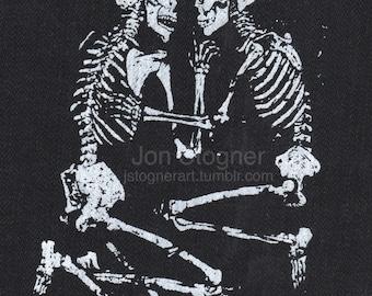Lovers of Valdaro skeleton screen print