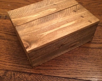 Rustic, reclaimed, trinket, treasure box