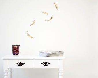 Wall decals from wood - geometric Springs swarm