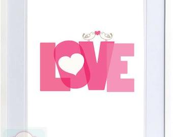 LoveBirds - Love Birds Printables - PDF Digital File
