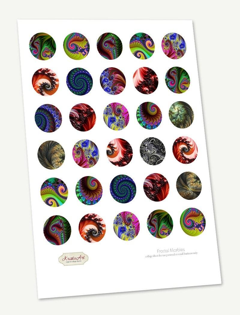 75 Off Sale Circle Pendant Image Fractal Marbles Printable
