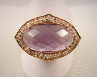 9ct Rose Gold Amethyst Statement Ring