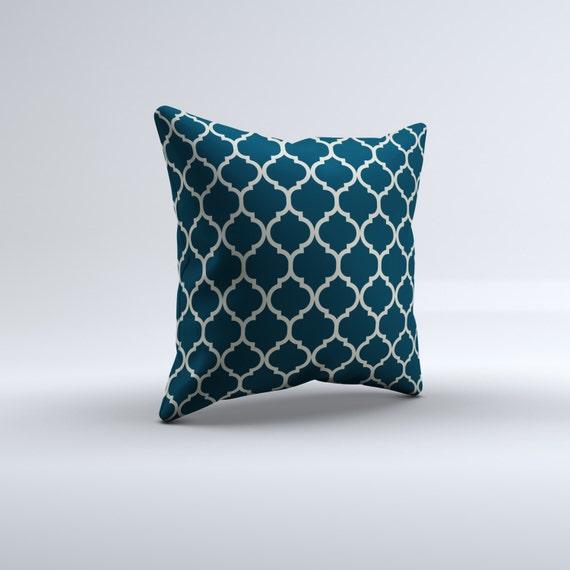 Quatrefoil Decorative Pillow : blue quatrefoil throw pillow modern throw pillow decorative