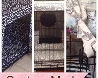dog crate cover, bedding, bumpers custom made