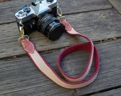 Recycled belt camera strap.