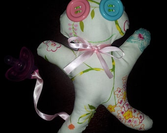 Baby Doll and Pacifier Holder, READY TO SHIP