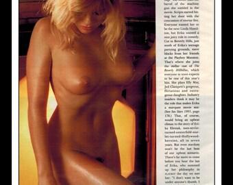 "Mature Celebrity Nude : Erika Eleniak Single Page Photo Wall Art Decor 8.5"" x 11"""