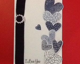 I Love You Stamped Card