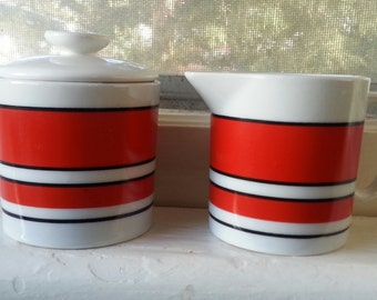 Vintage Creamer and Sugar with lid