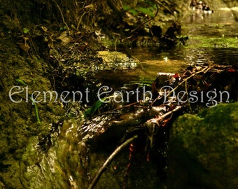 Waterfall, Stream, Instant Download, 8x10, Brook, Digital Printable, Fine Art Digital Photo, Photography, woods, forest, woodland, landscape