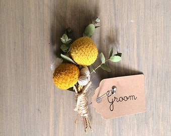 Billy balls  Boutonniere made with fully dried real flowers!