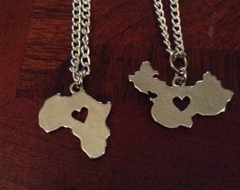 State & Country Shaped Necklace