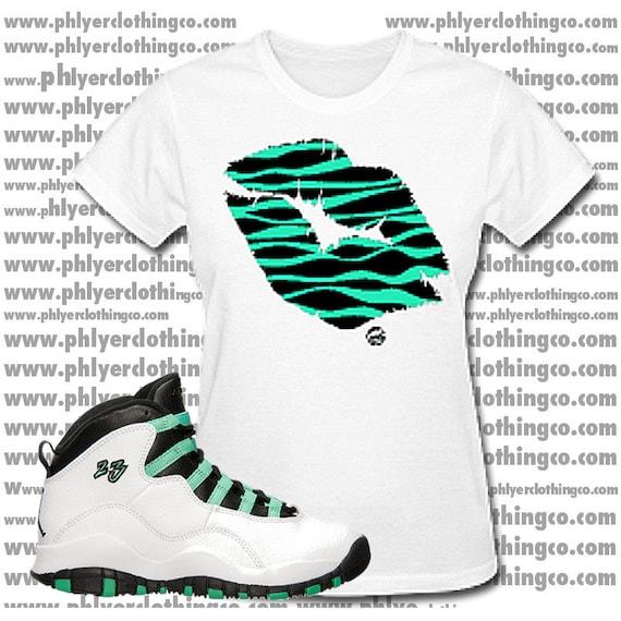 17e0db1779d1 Nike Air Jordan 10 Retro X GG GS White Verde Black Bleached
