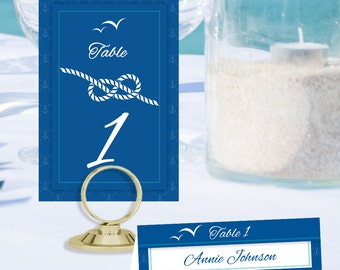 Nautical Table Number and Place Cards BOT-01-TN-PC-Digital Download