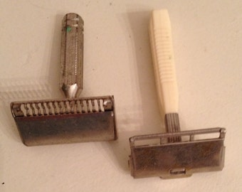 Razors-Shaving-Vintage Ever-Ready and Vintage Gem Razors Art Deco - Lot of 2