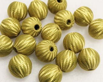 22mm Crochet Beads, Big Bold Beads, Large Beads , Textile Beads