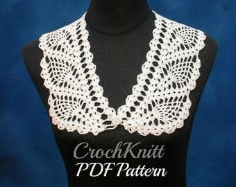 crochet collar pattern, PDF downloadable pattern, collar pattern