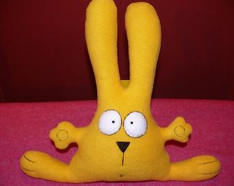 Stuffed bunny rabbit hare doll cute sunny yellow Easter bunny softie plush animal toy gift
