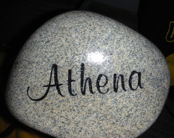 Engraved or Personalized Rocks or Memorial Stones