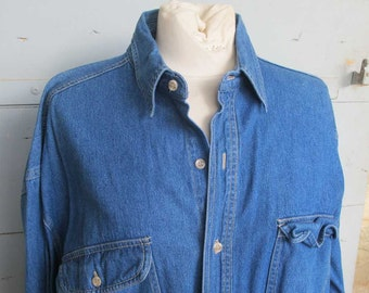1980s Denim Shirt XL