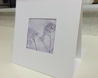 Woodland Print card