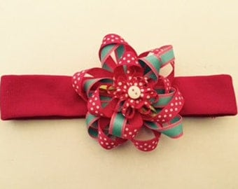 Hot Pink Headband with Bow