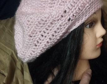 super soft slouchy crochet hat